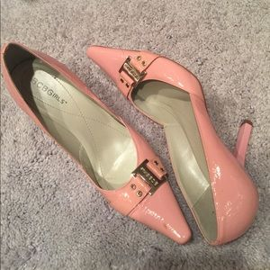 Bcbg pink patent leather pumps
